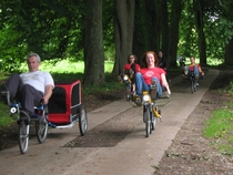 Recumbent bike travelling ride