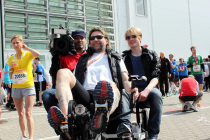 Mit dem Trimobil-Kamera-Fahrzeug auf  dem Hamburg-Marathon