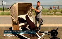 Trimobil Strandkorb-Rikscha im NDR S.-H.- Magazin
