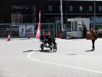 Trimobile im Einsatz auf dem Kirchentag in Stuttgart