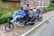 Kindergarten goes Culture - Das Trimobil machts auch auf längeren Strecken möglich.