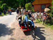 Unterwegs mit dem Trimobil auf der kulturellen Landpartie im Wendland